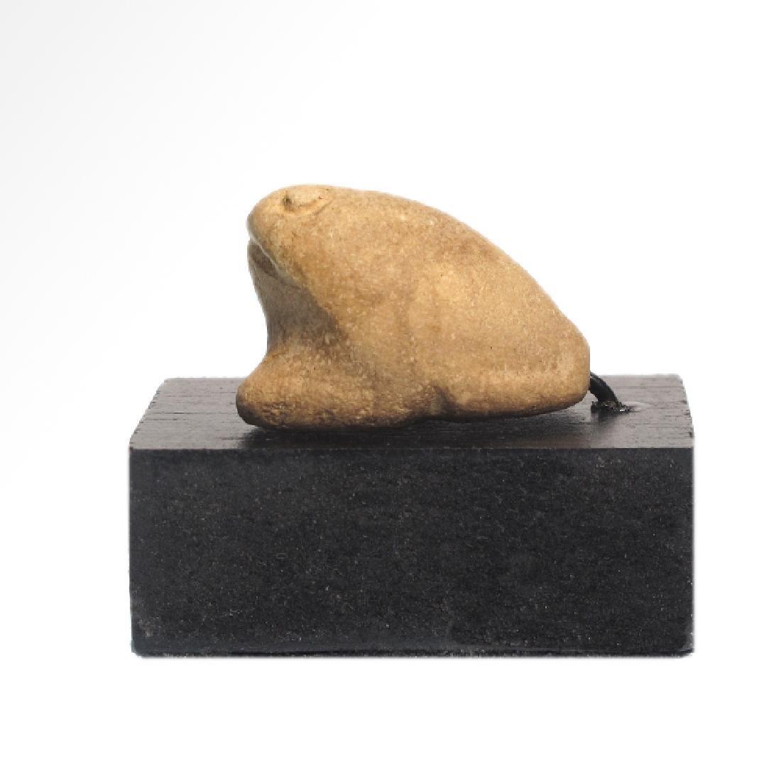 Near Eastern Sumerian White Steatite Frog Amulet, c.