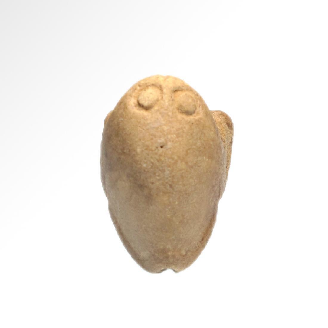 Near Eastern Sumerian White Steatite Frog Amulet, c. - 5