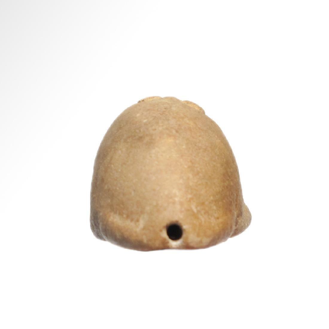 Near Eastern Sumerian White Steatite Frog Amulet, c. - 6