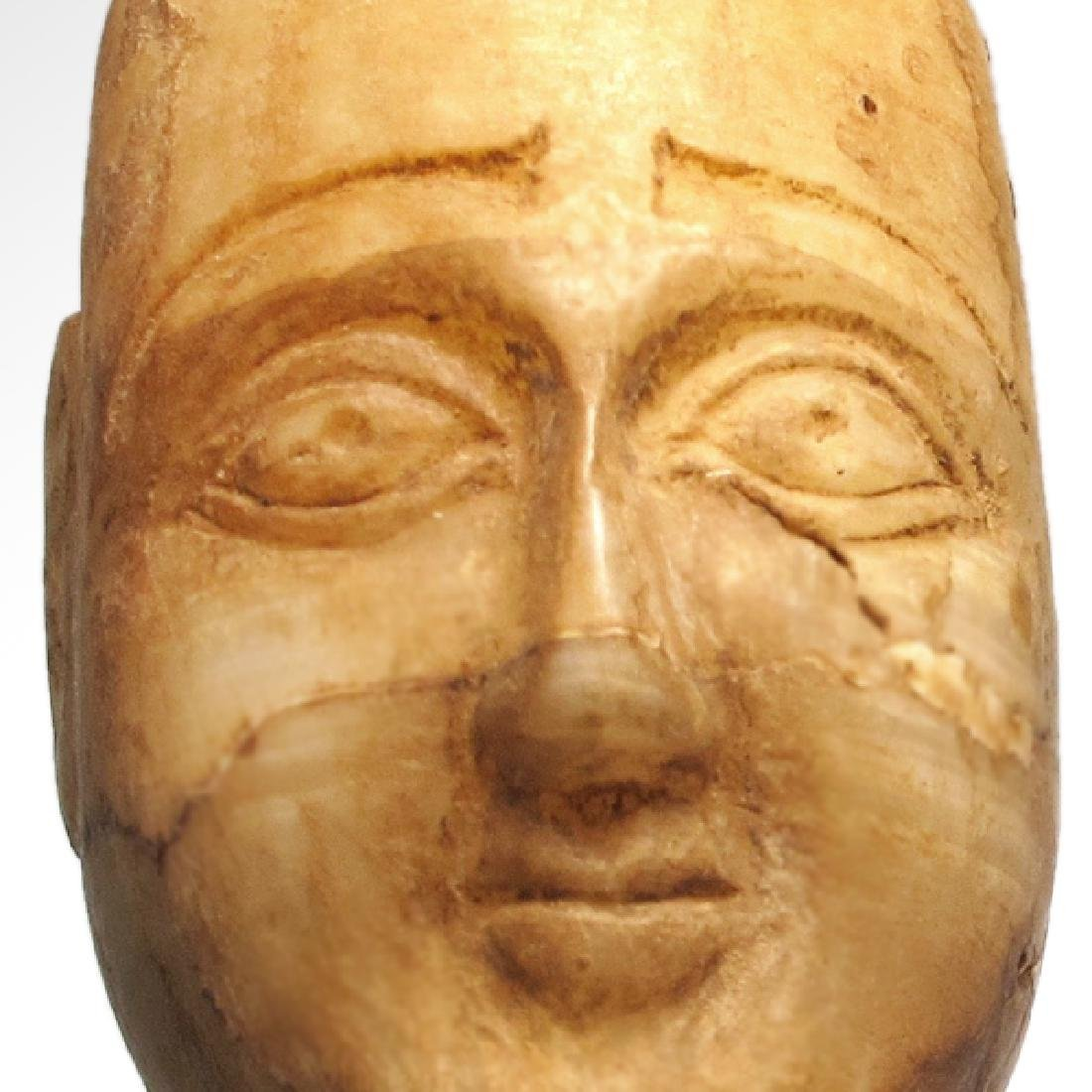 South Arabian Alabaster Head of a Man, c. 2nd-1st - 3
