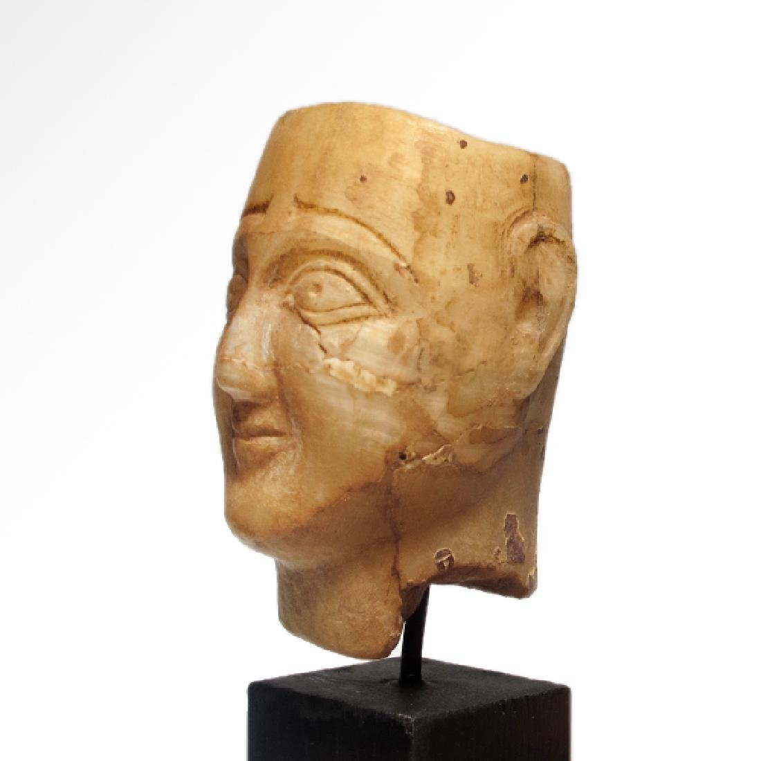 South Arabian Alabaster Head of a Man, c. 2nd-1st - 5