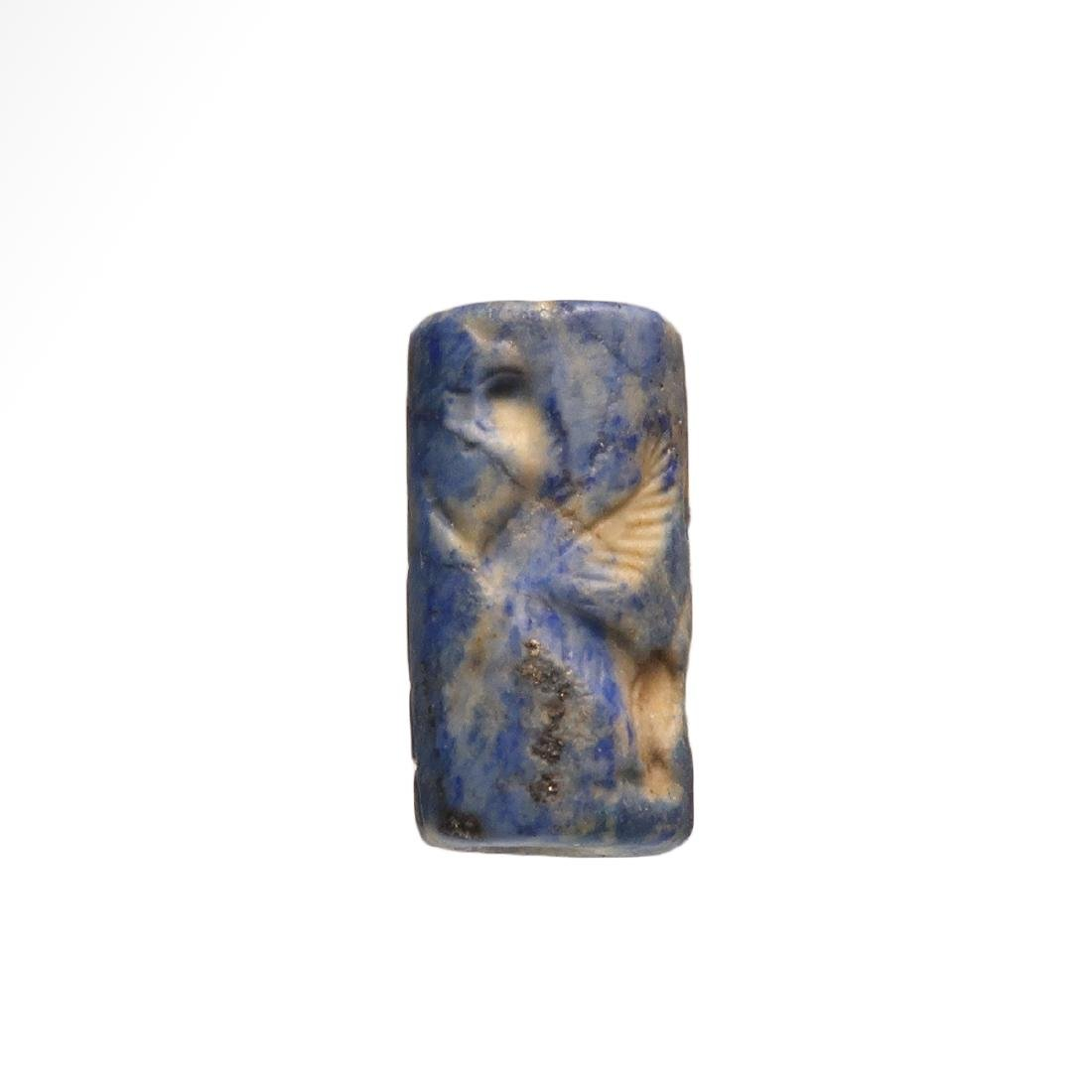 Assyrian Cylinder Seal, Deity and Winged Animals