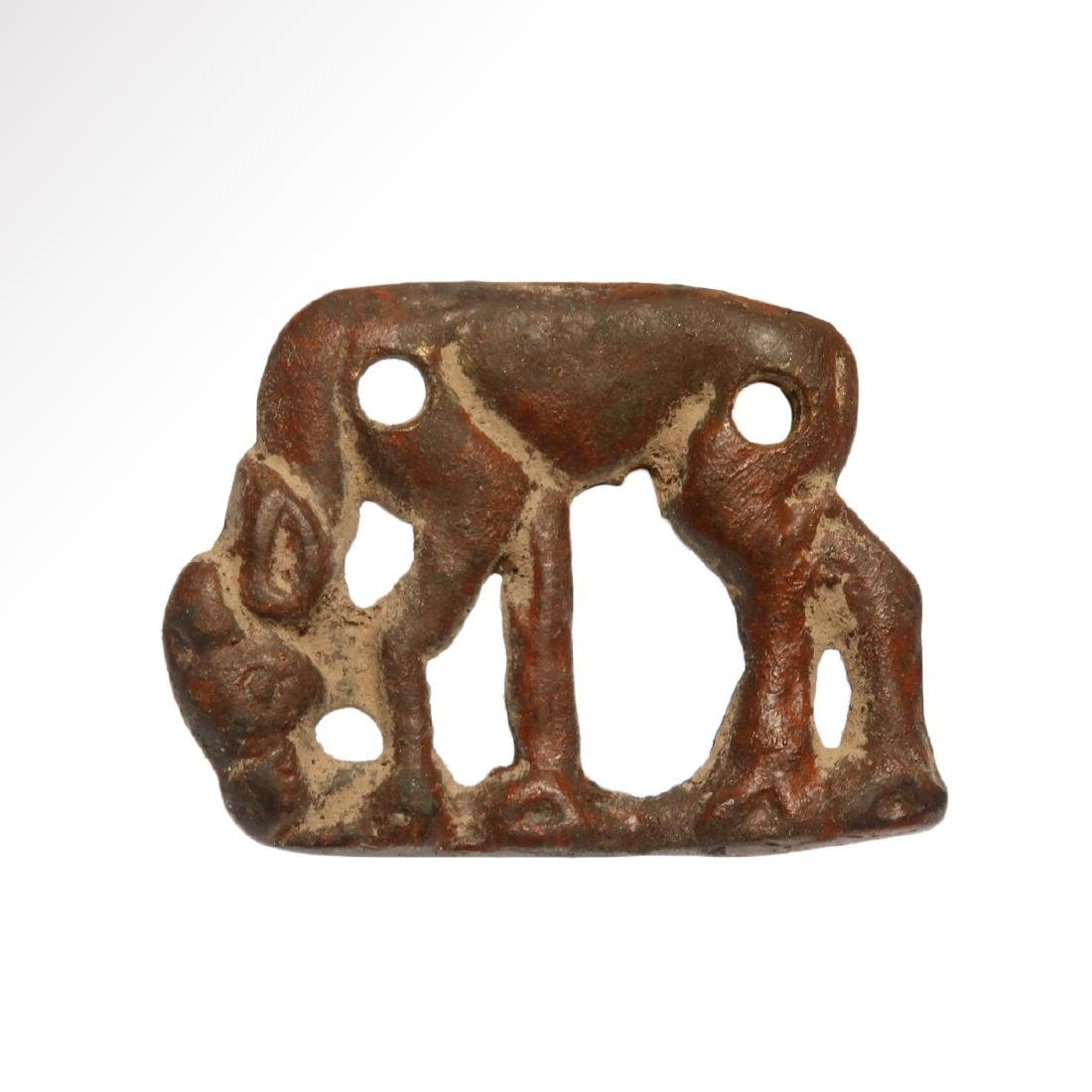 Scythian Openwork Plaque With Grazing Stag, c. 5th -