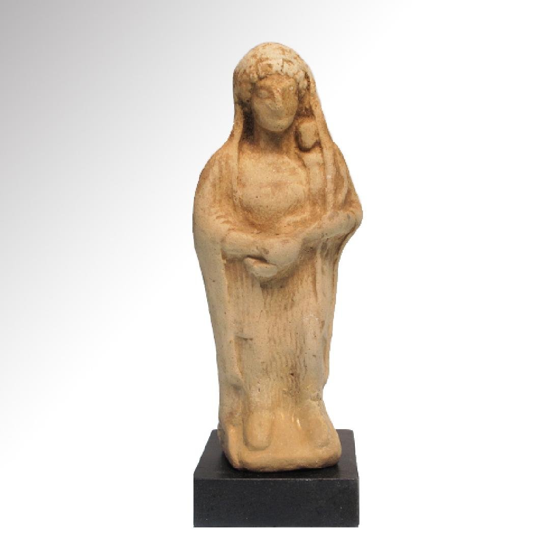 Greek Terracotta Figure of Mother Goddess and Baby,