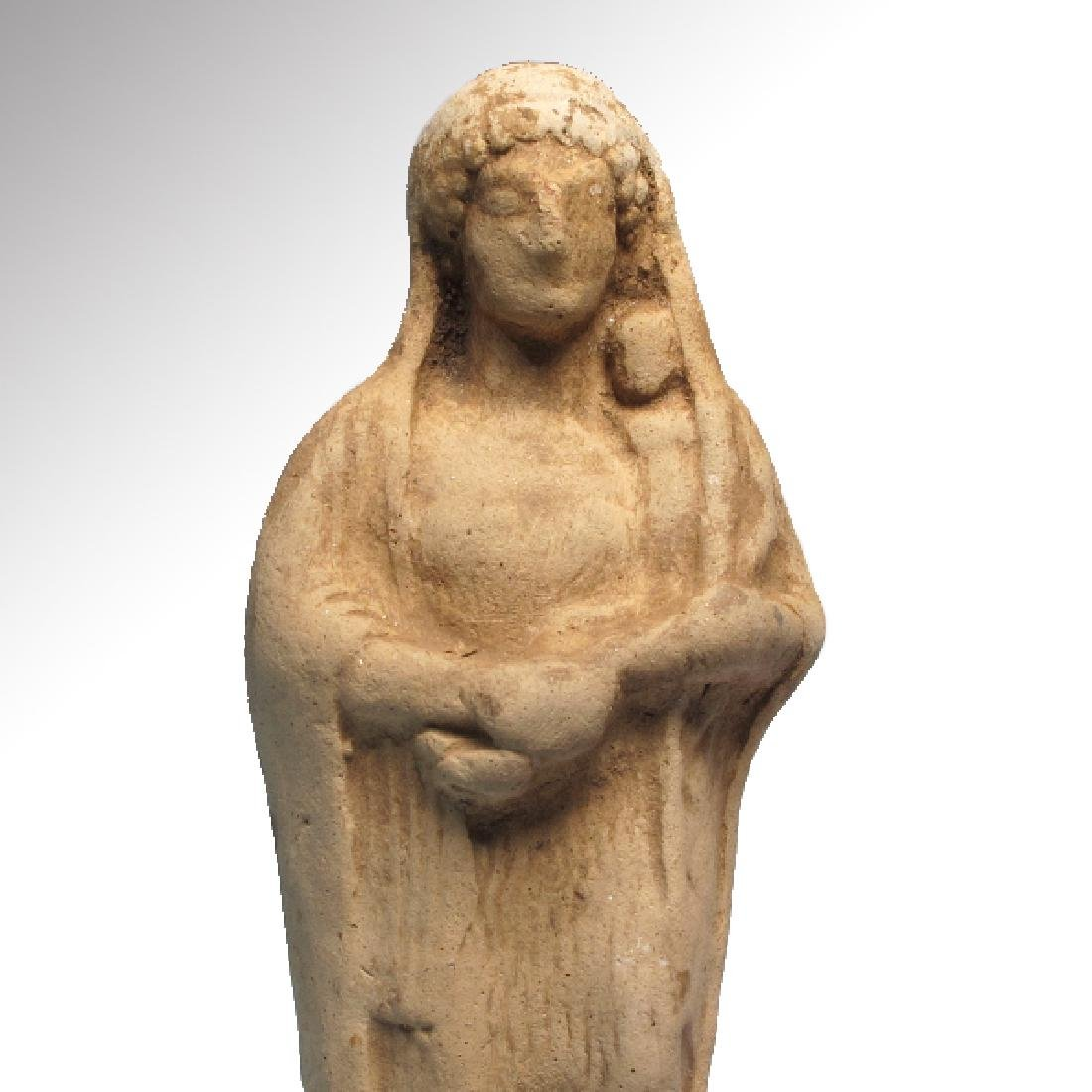Greek Terracotta Figure of Mother Goddess and Baby, - 2