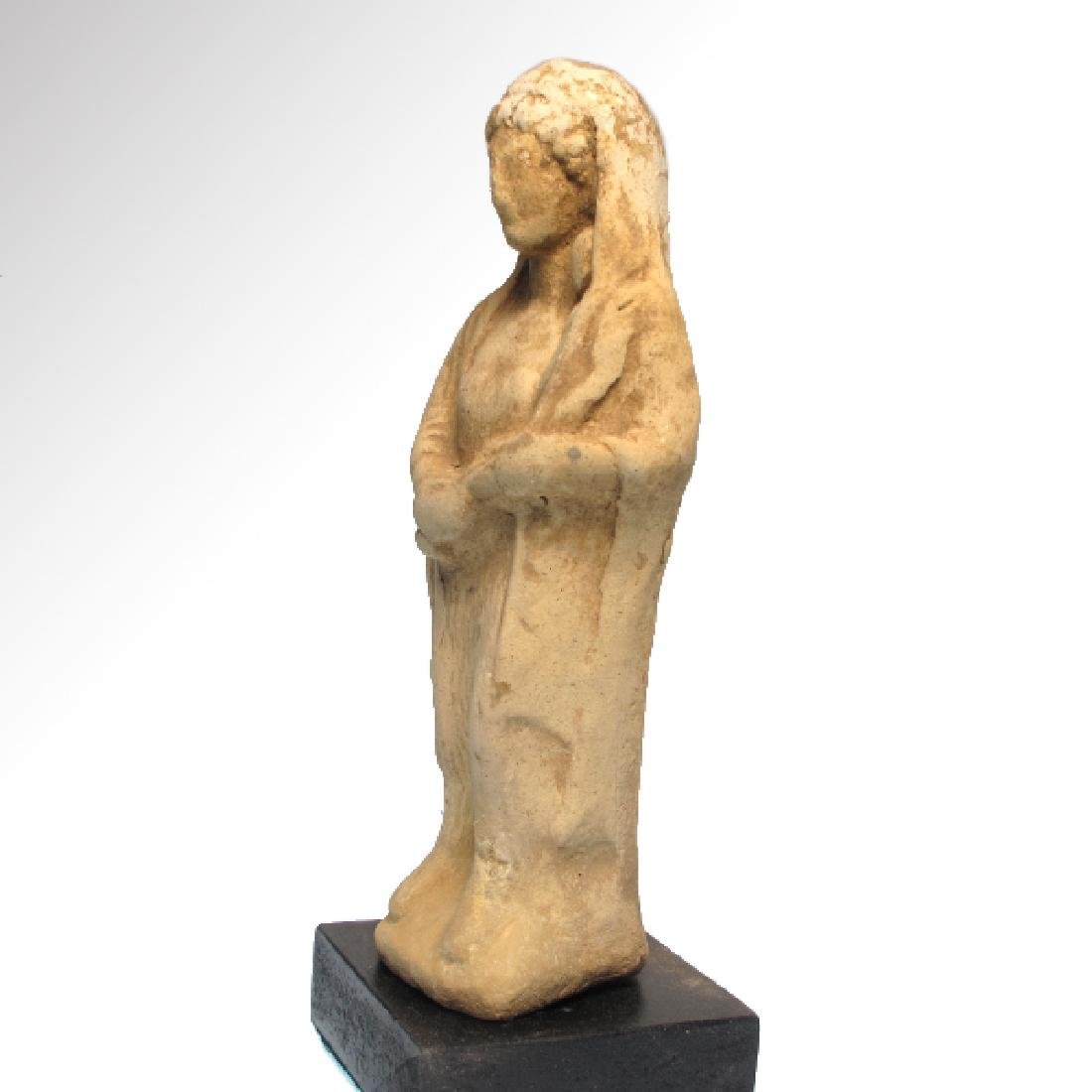 Greek Terracotta Figure of Mother Goddess and Baby, - 3