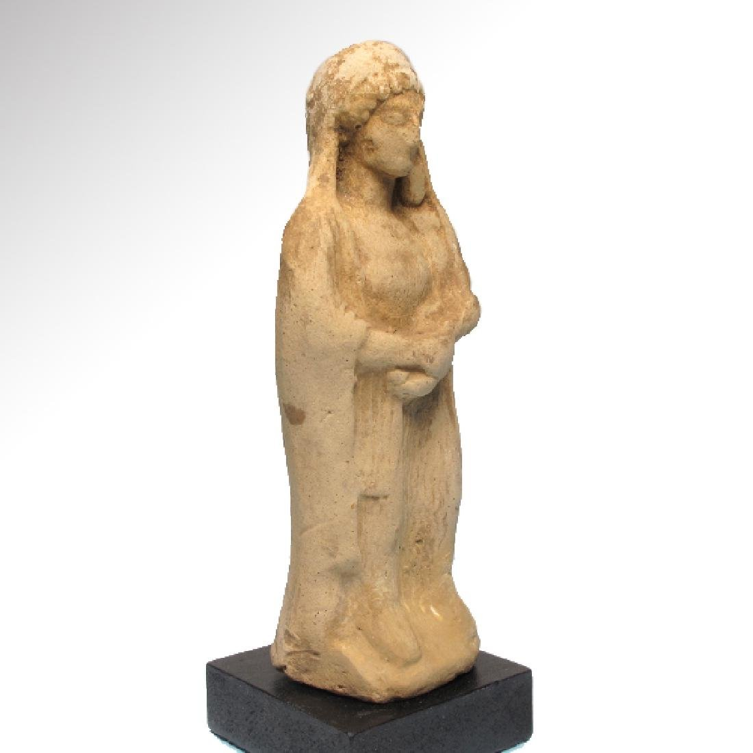 Greek Terracotta Figure of Mother Goddess and Baby, - 4