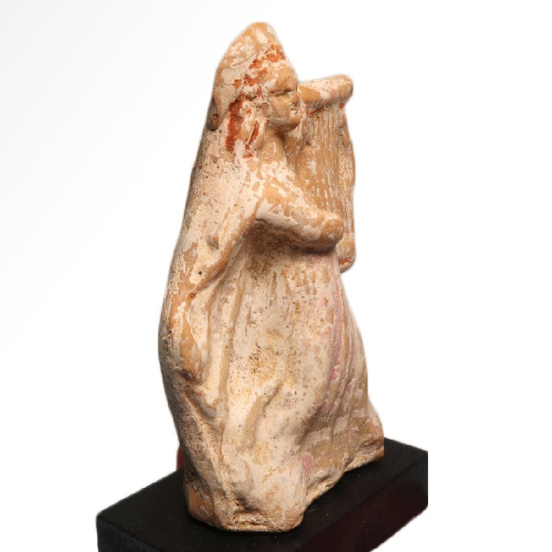 Canosan Painted Terracotta Figure of a Musician with - 3