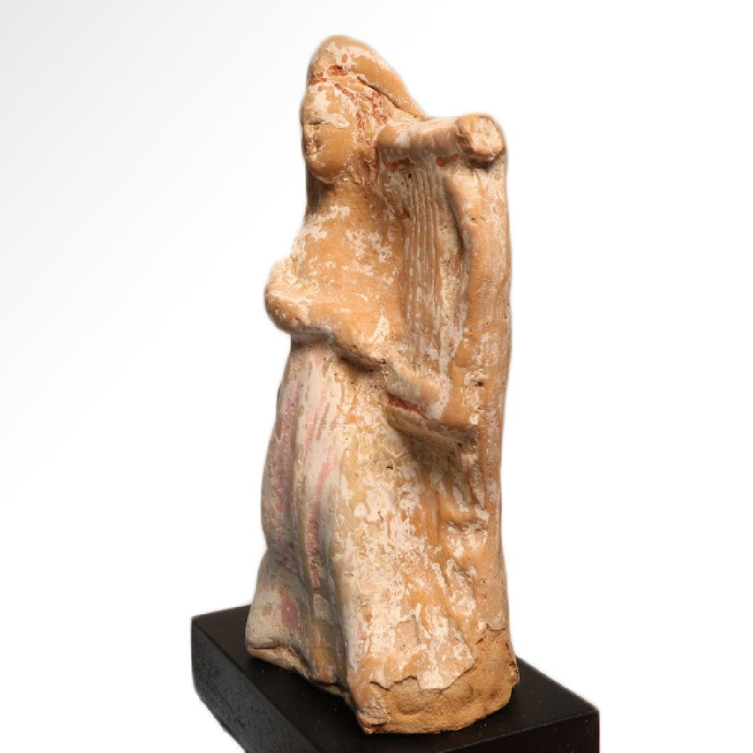 Canosan Painted Terracotta Figure of a Musician with - 4