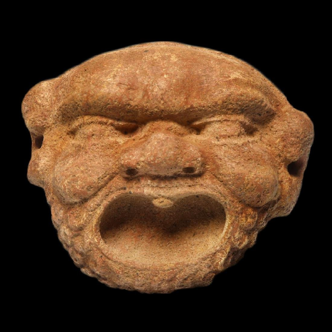 Greek Red Marble Gorgon Mask Protome, c. 3rd-2nd