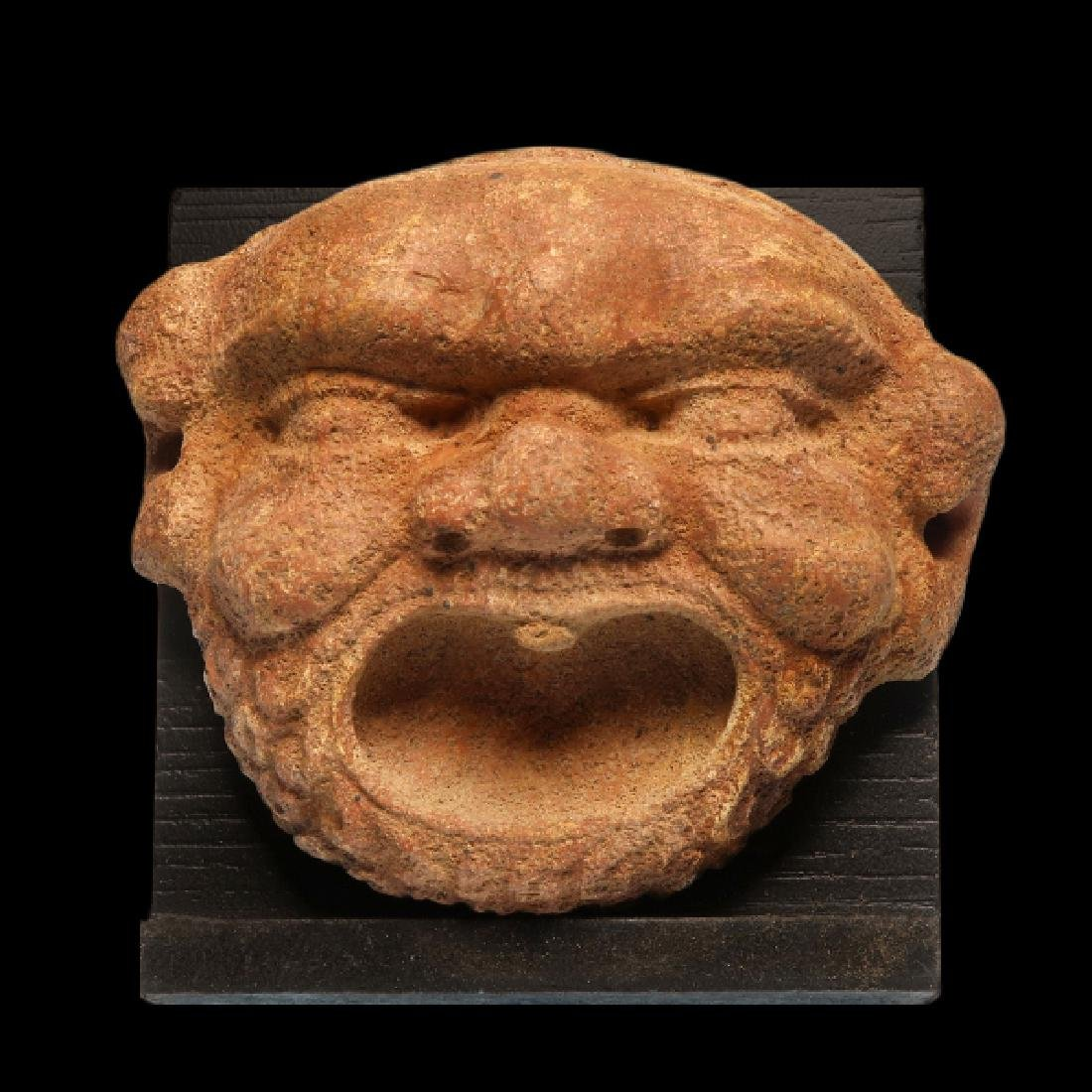 Greek Red Marble Gorgon Mask Protome, c. 3rd-2nd - 2