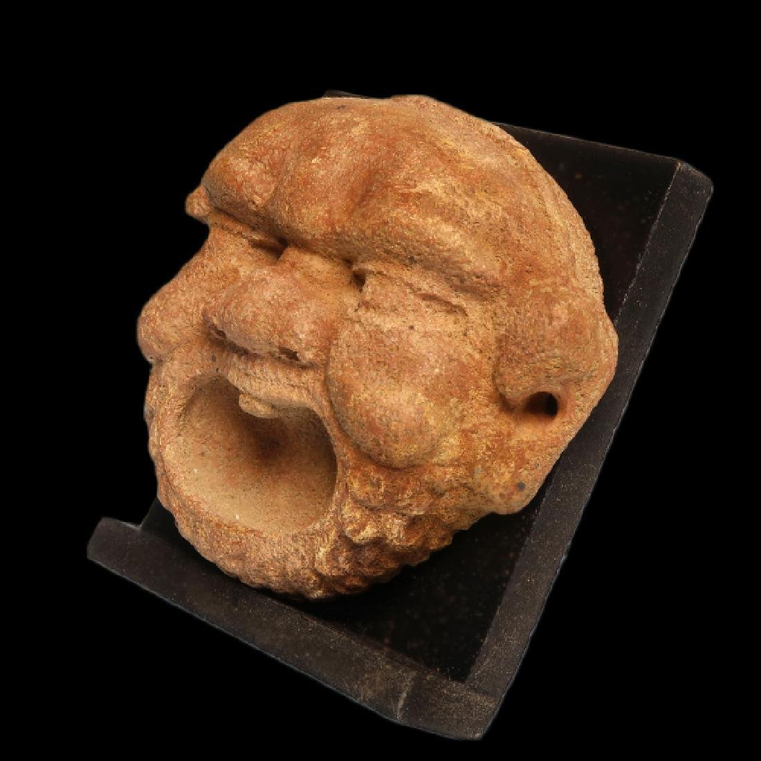 Greek Red Marble Gorgon Mask Protome, c. 3rd-2nd - 4