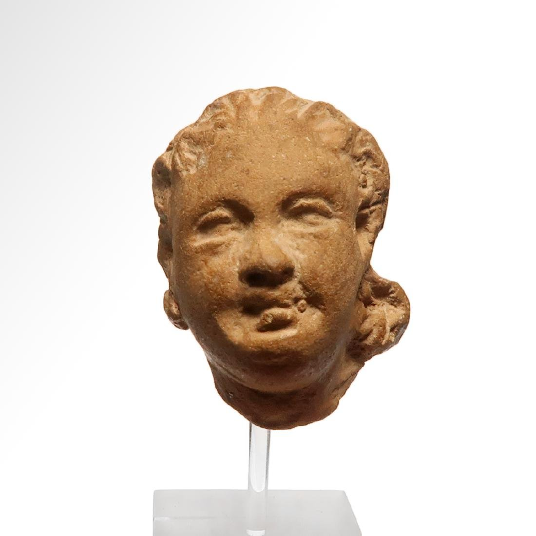 Greek Terracotta Head of a Lady, c. 4th - 3rd Century