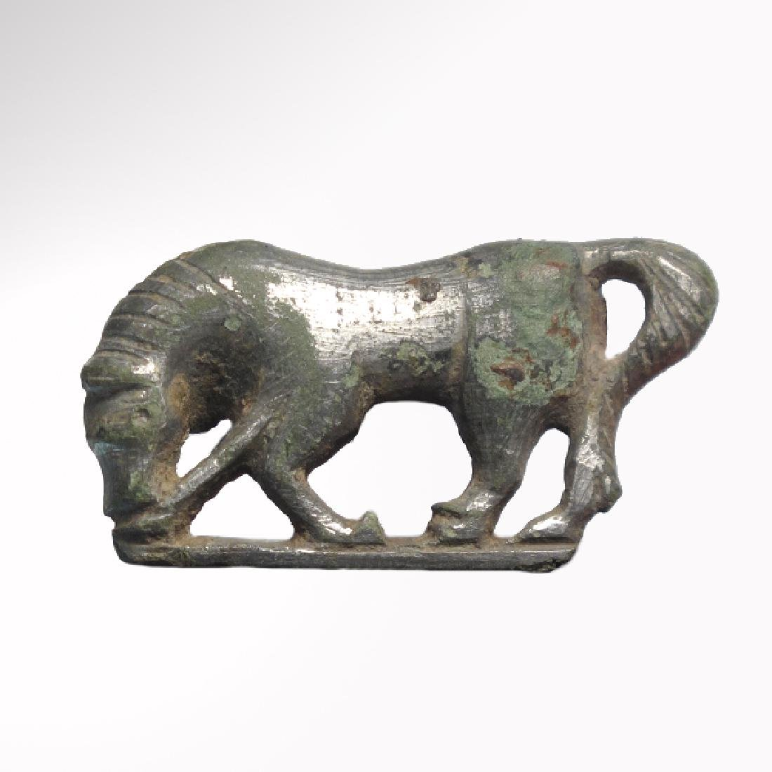 Roman Silver Plated Fibula Brooch in the Form of a