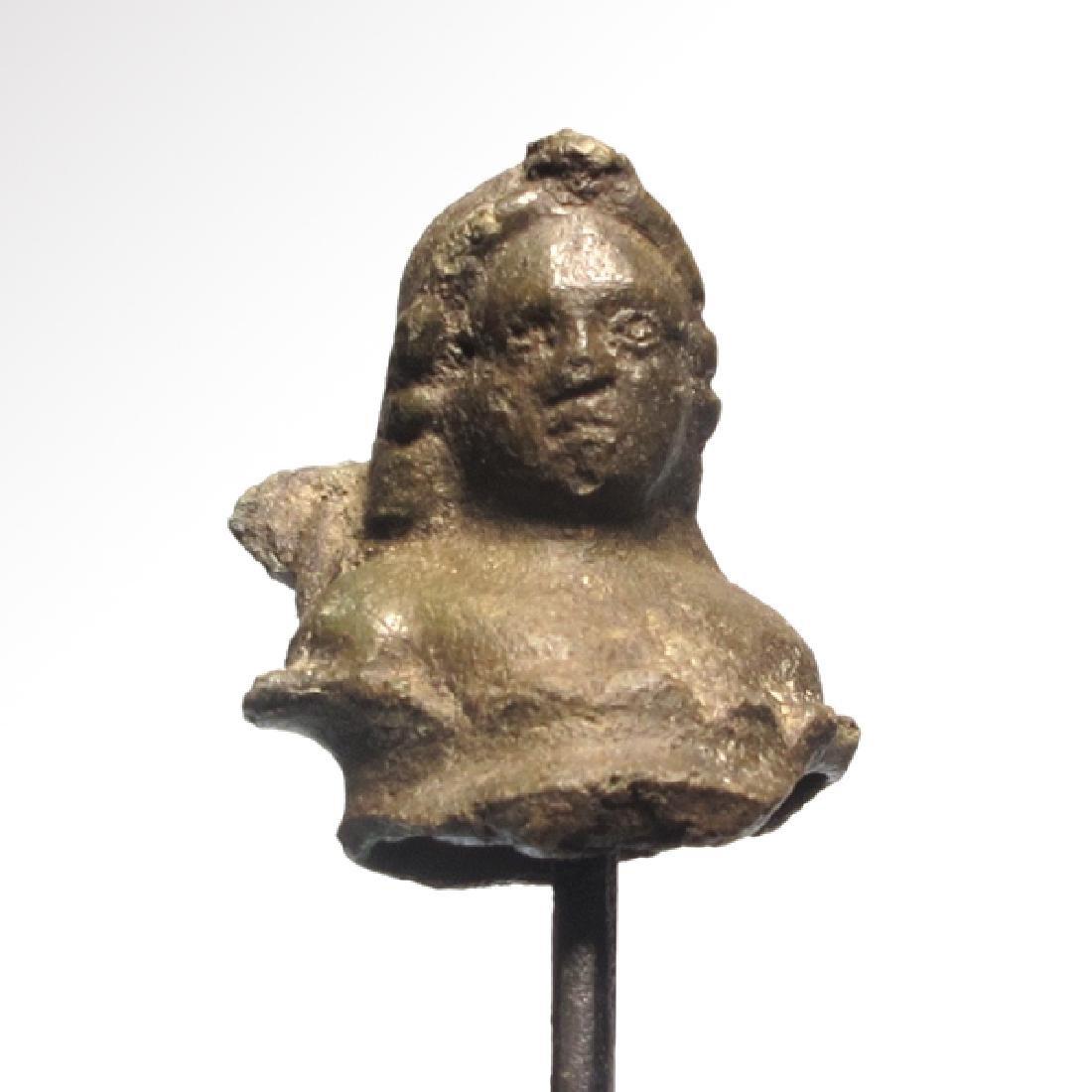 Roman Bronze Bust of Winged Cupid Eros, c. 2nd Century