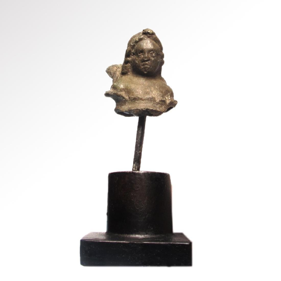 Roman Bronze Bust of Winged Cupid Eros, c. 2nd Century - 5