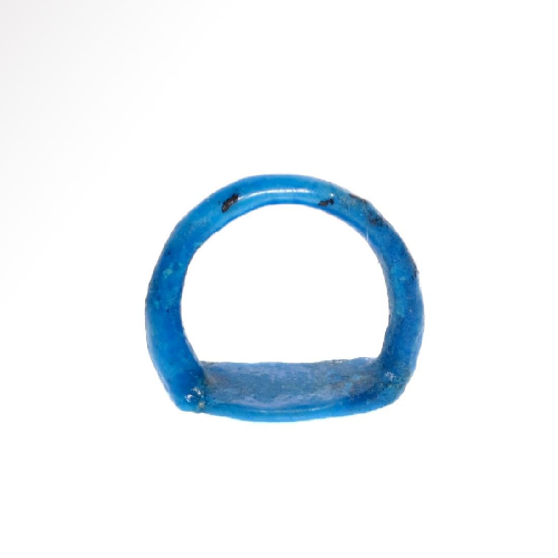 Egyptian Faience Ring with Lotus Flower, Amarna Period, - 6
