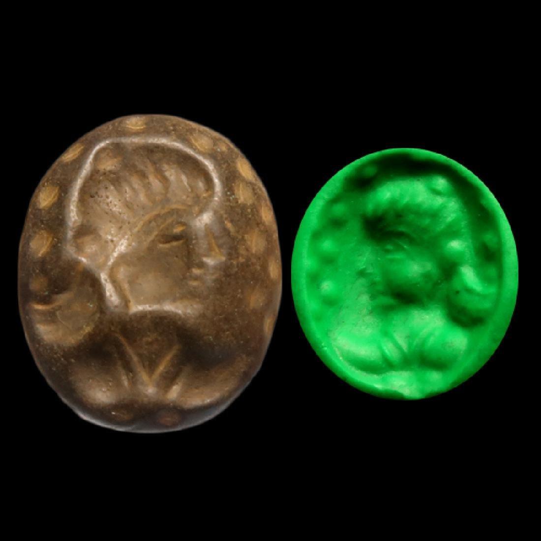 Sassanian Hematite Intaglio, Head of a Lady