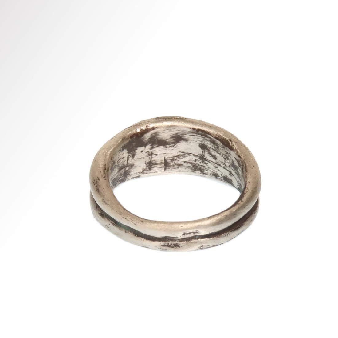 Roman Double Silver Ring with Garnets, c. 3rd Century - 6