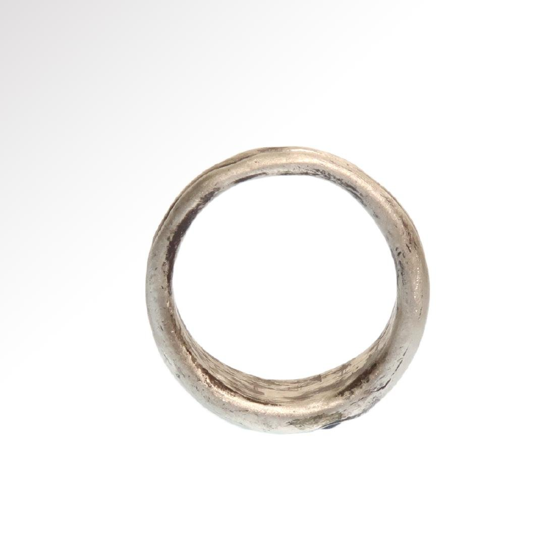 Roman Double Silver Ring with Garnets, c. 3rd Century - 7