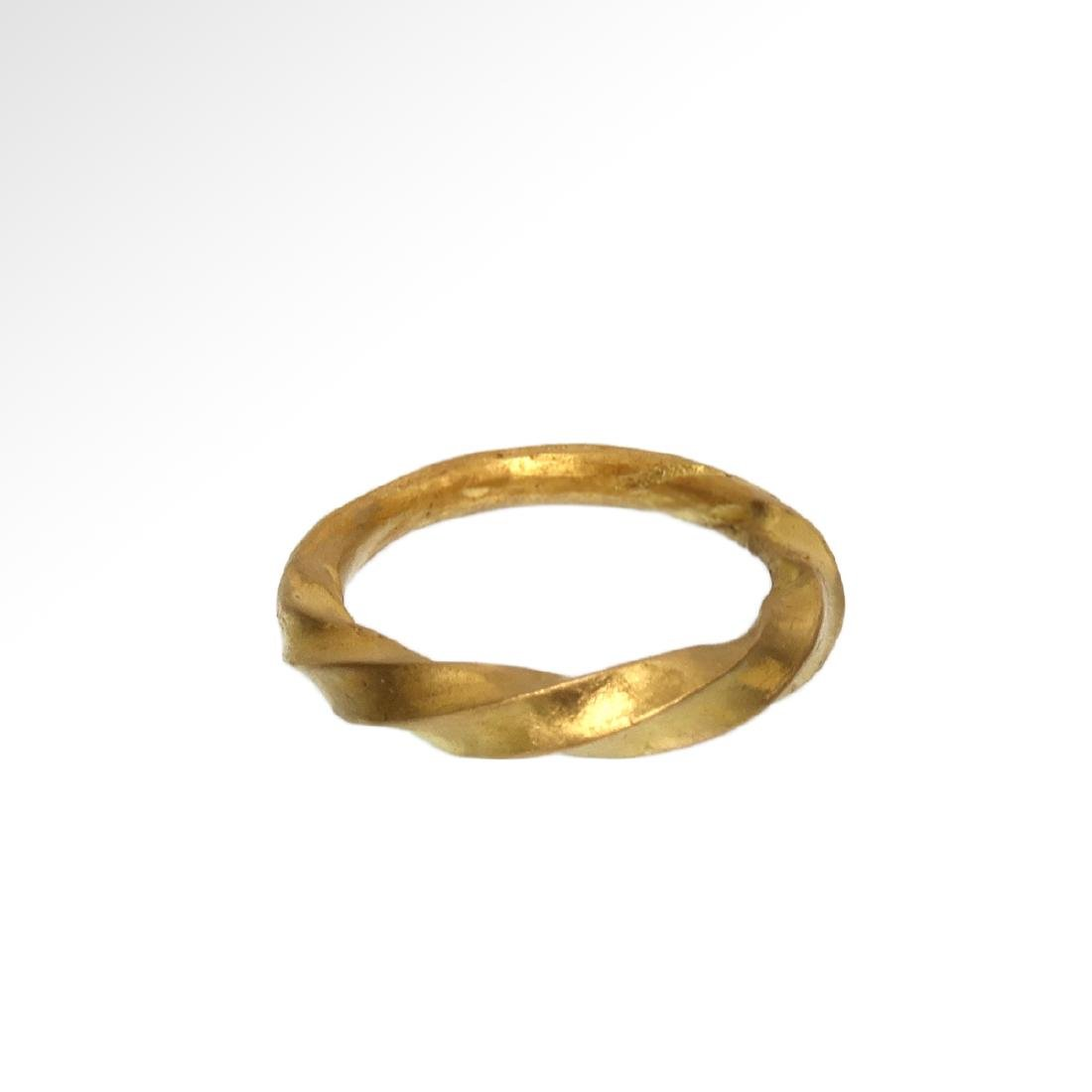 Viking Solid Gold Ring, c. 11th Century A.D. - 2