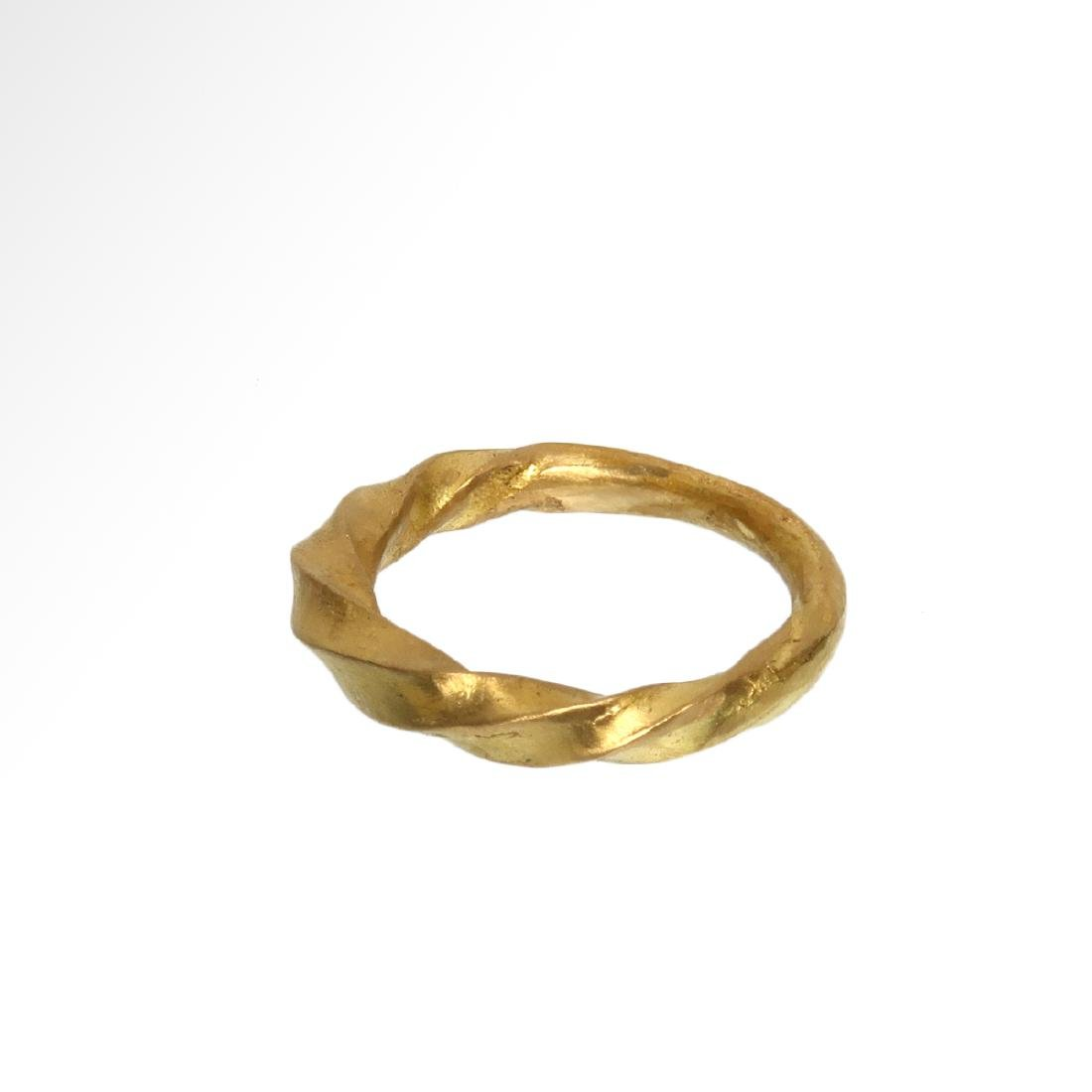 Viking Solid Gold Ring, c. 11th Century A.D. - 3
