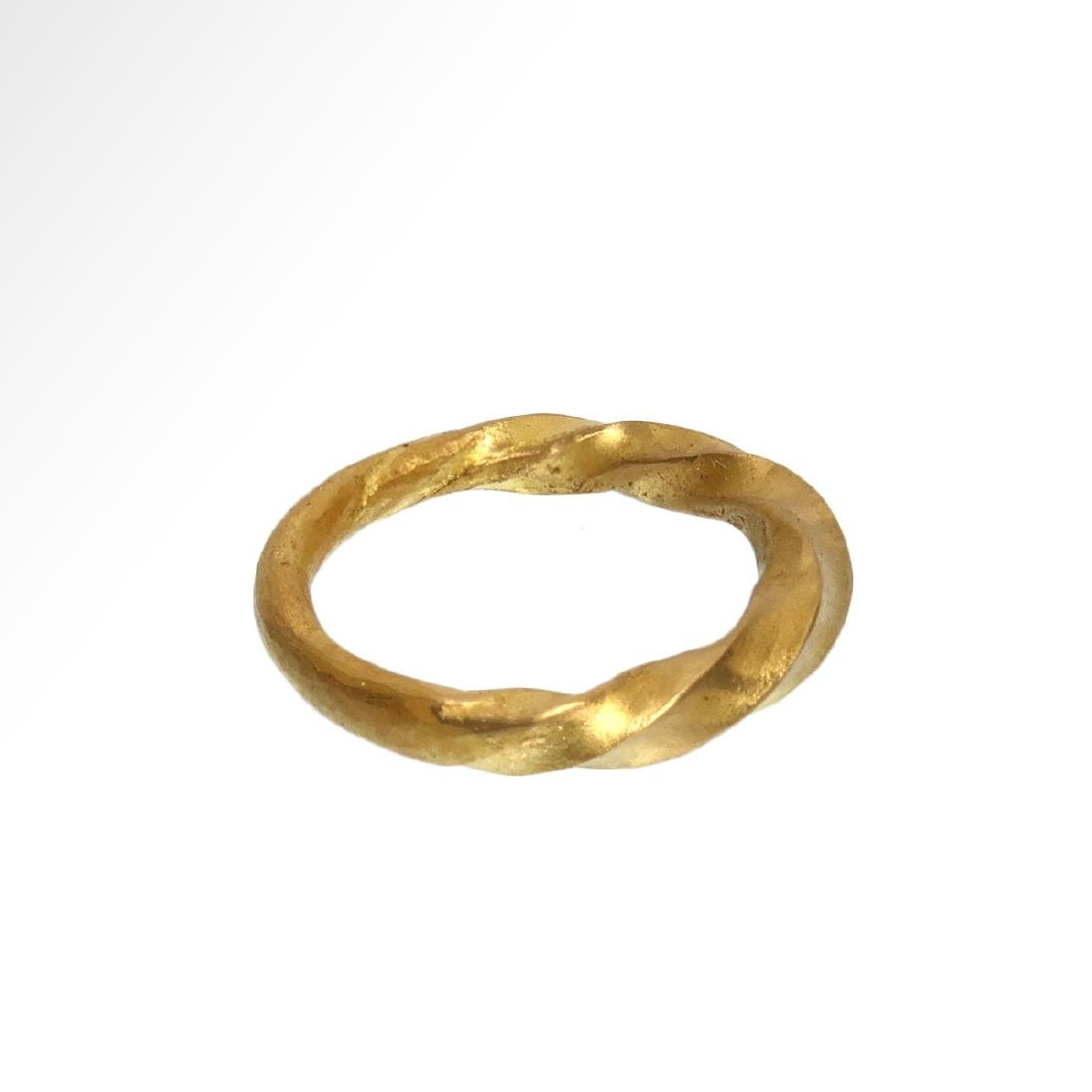 Viking Solid Gold Ring, c. 11th Century A.D. - 4