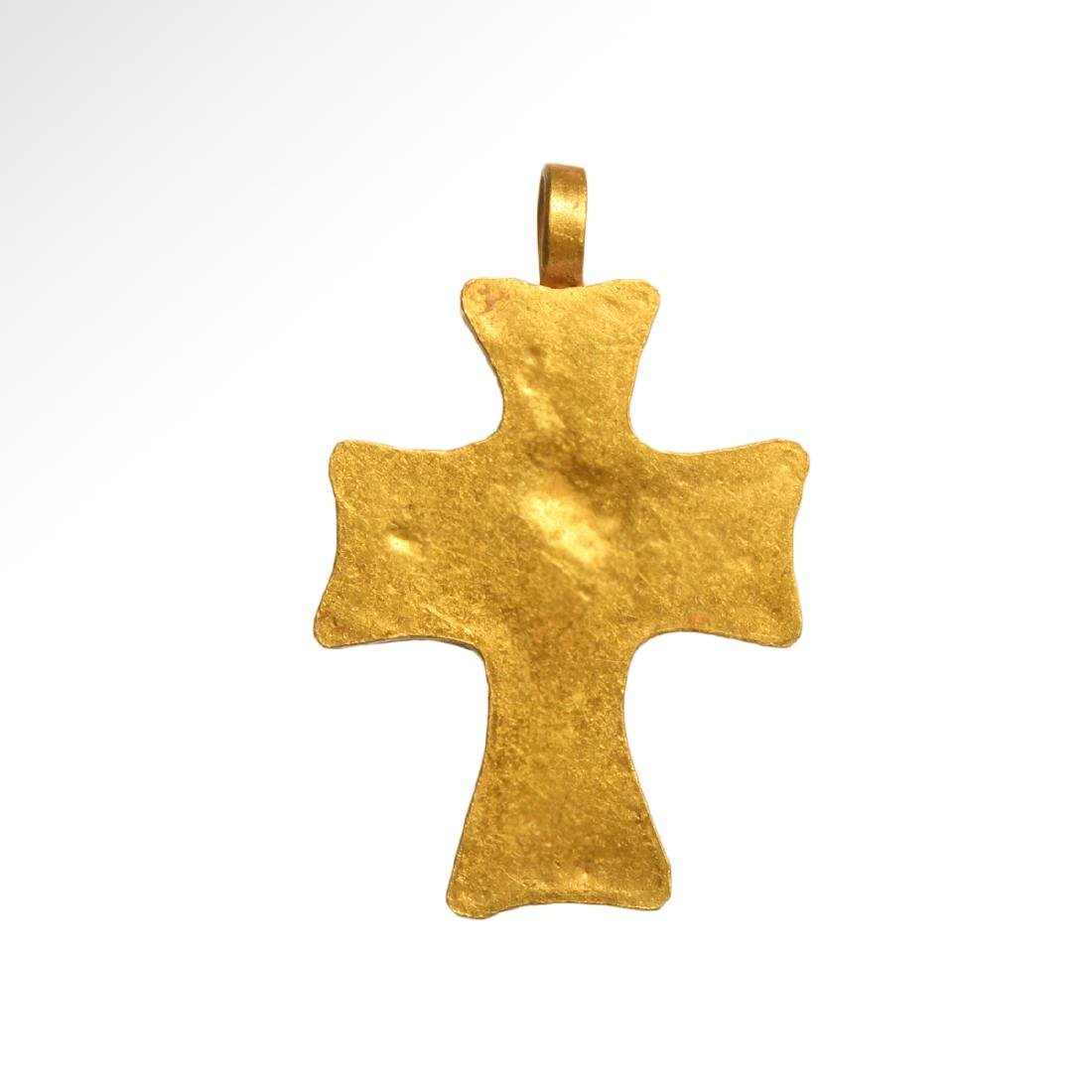 Byzantine Gold and Garnet Cross, 7th-9th Century A.D. - 2
