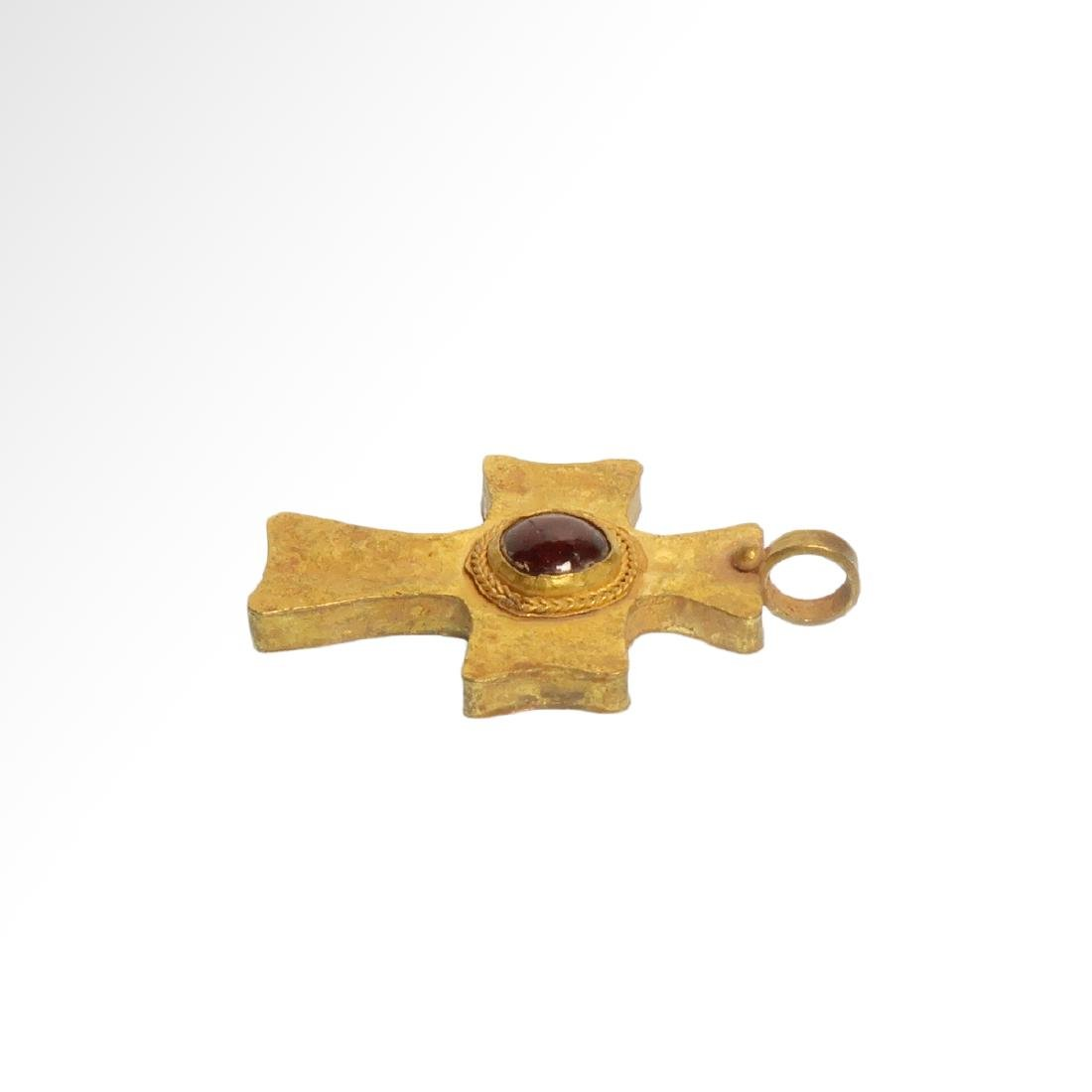 Byzantine Gold and Garnet Cross, 7th-9th Century A.D. - 4