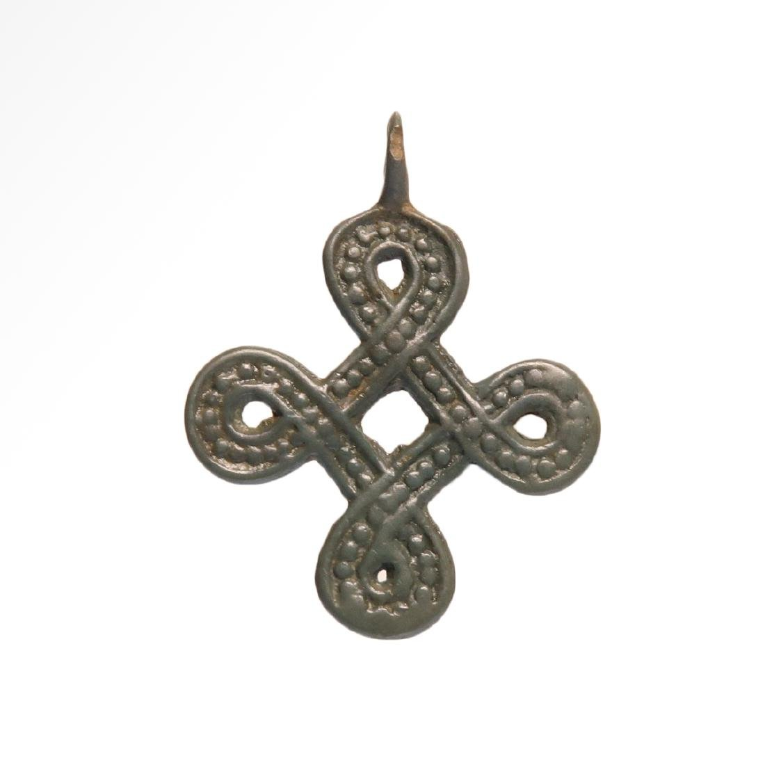 Viking Interlace Cross Pendant, 9th-11th century AD. - 2