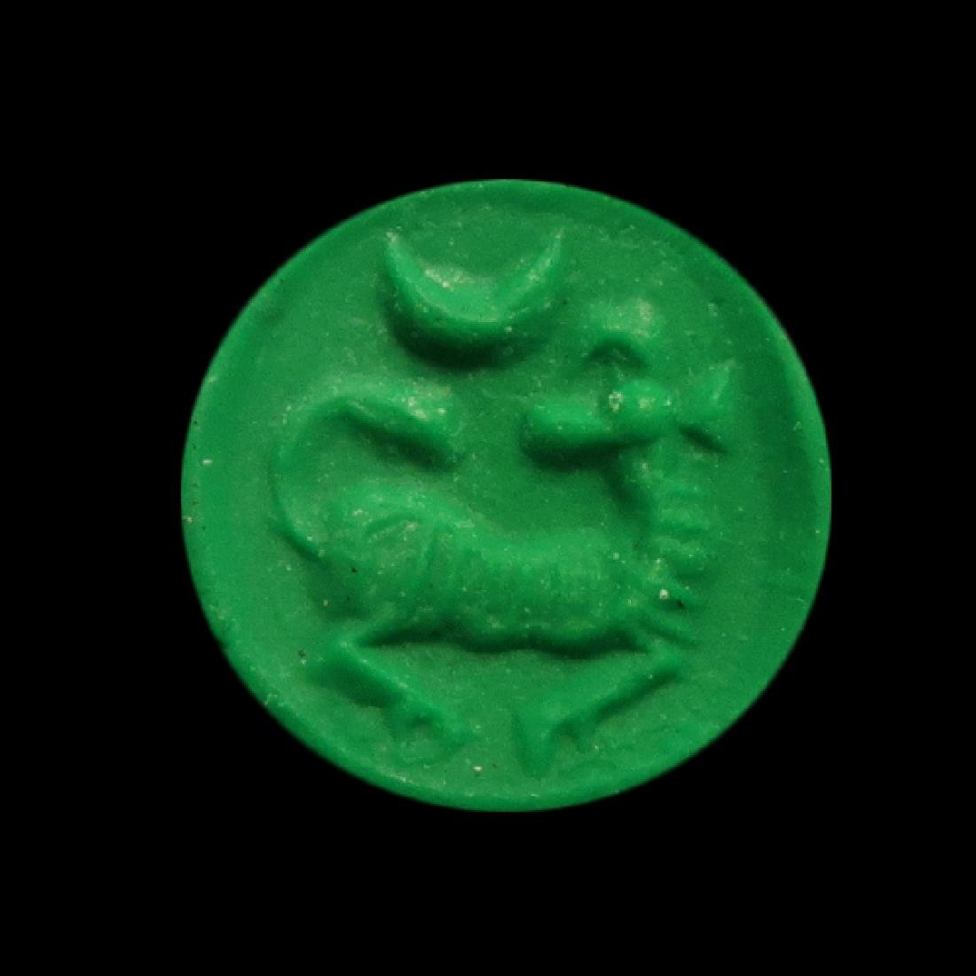 Phoenician Yellow Steatite Seal with Ram, c. 600-500 - 2