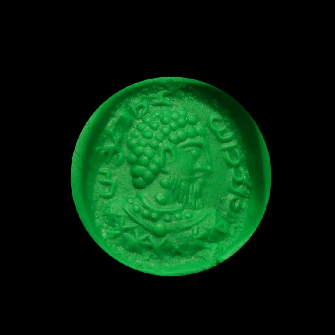 Sassanian Agate Seal, Portrait of a King & Inscription - 6