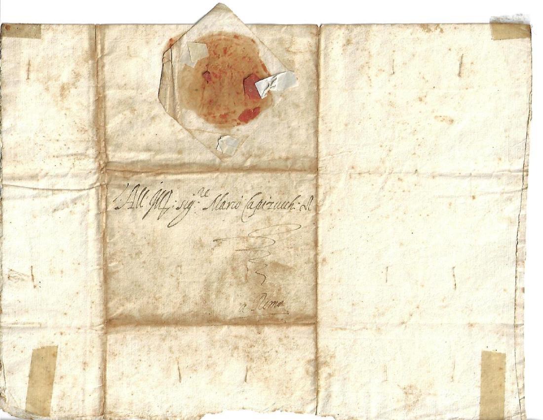 1583 Manuscript Letter Medici Interesting Content - 2