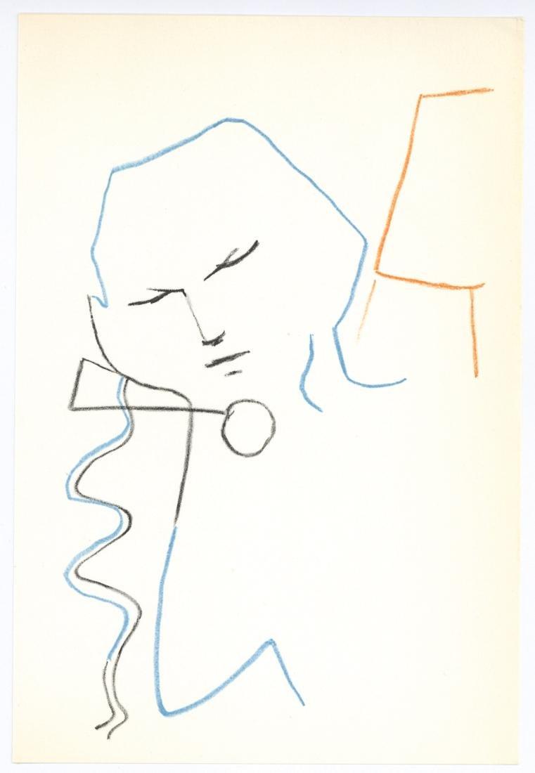 Jean Cocteau original lithograph | La voix humaine