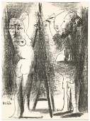 """Pablo Picasso """"The Artist and his Model II"""" original"""