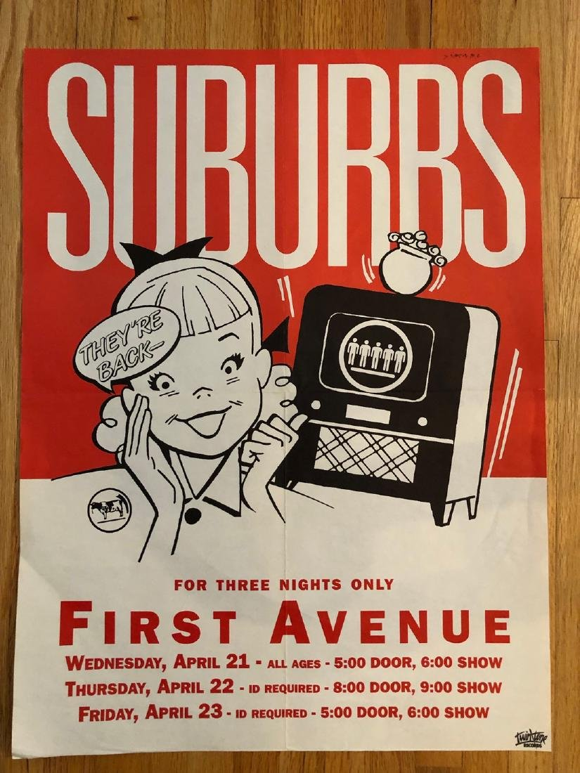 THE SUBURBS POSTER