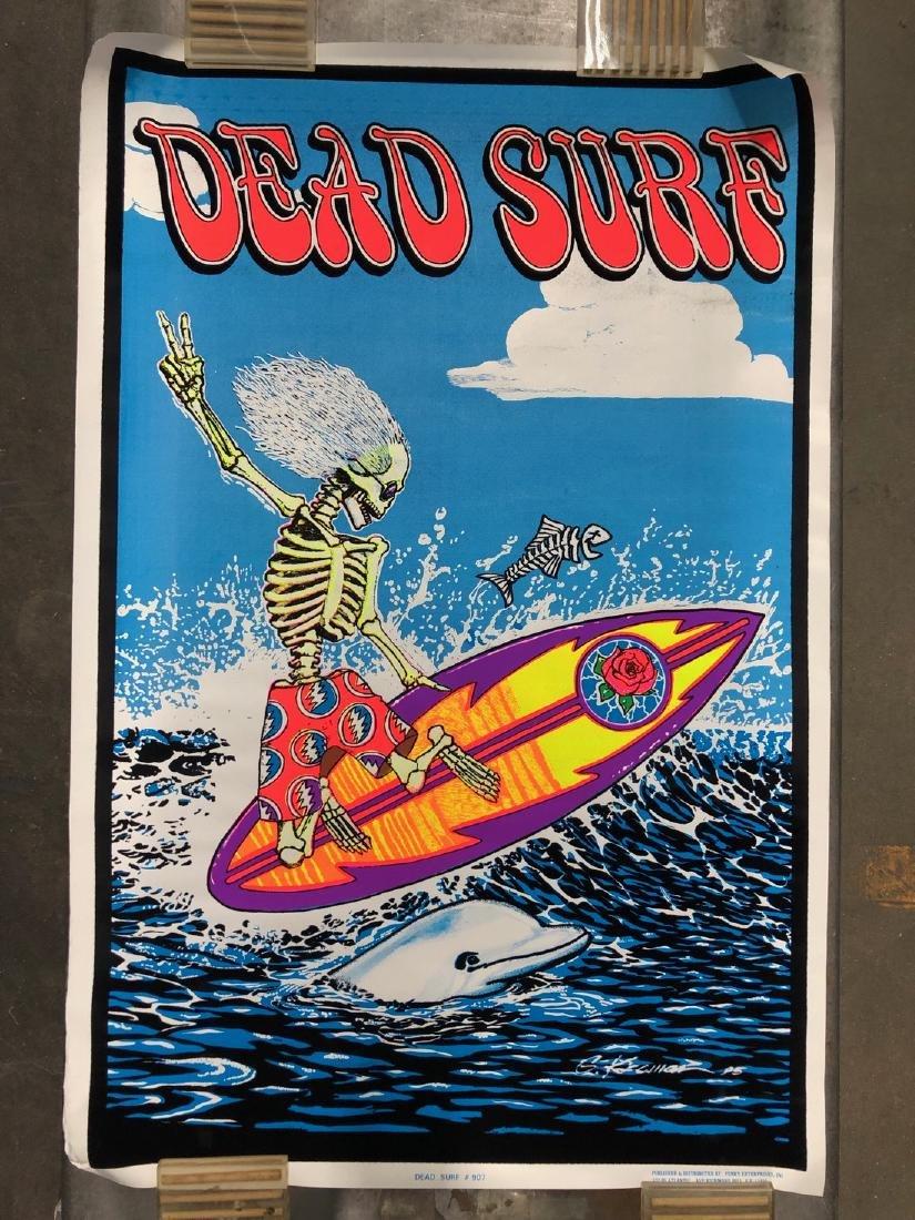 DEAD SURF - FLOCKED BLACKLIGHT POSTER