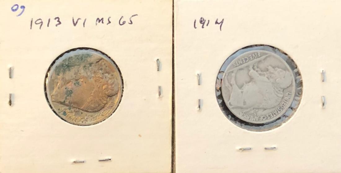 1913 & 1914 Buffalo Nickles - 2