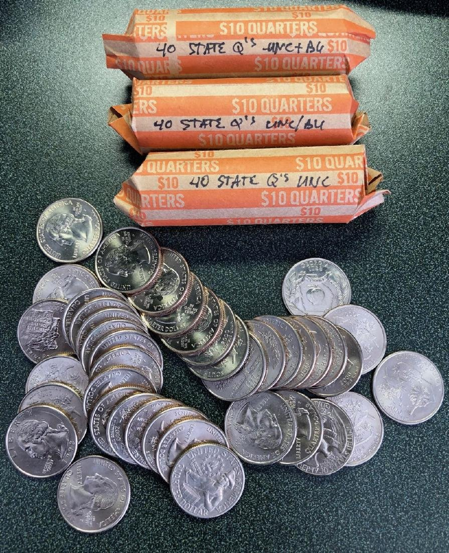 $40 Face Value UNC & BU State Quarters