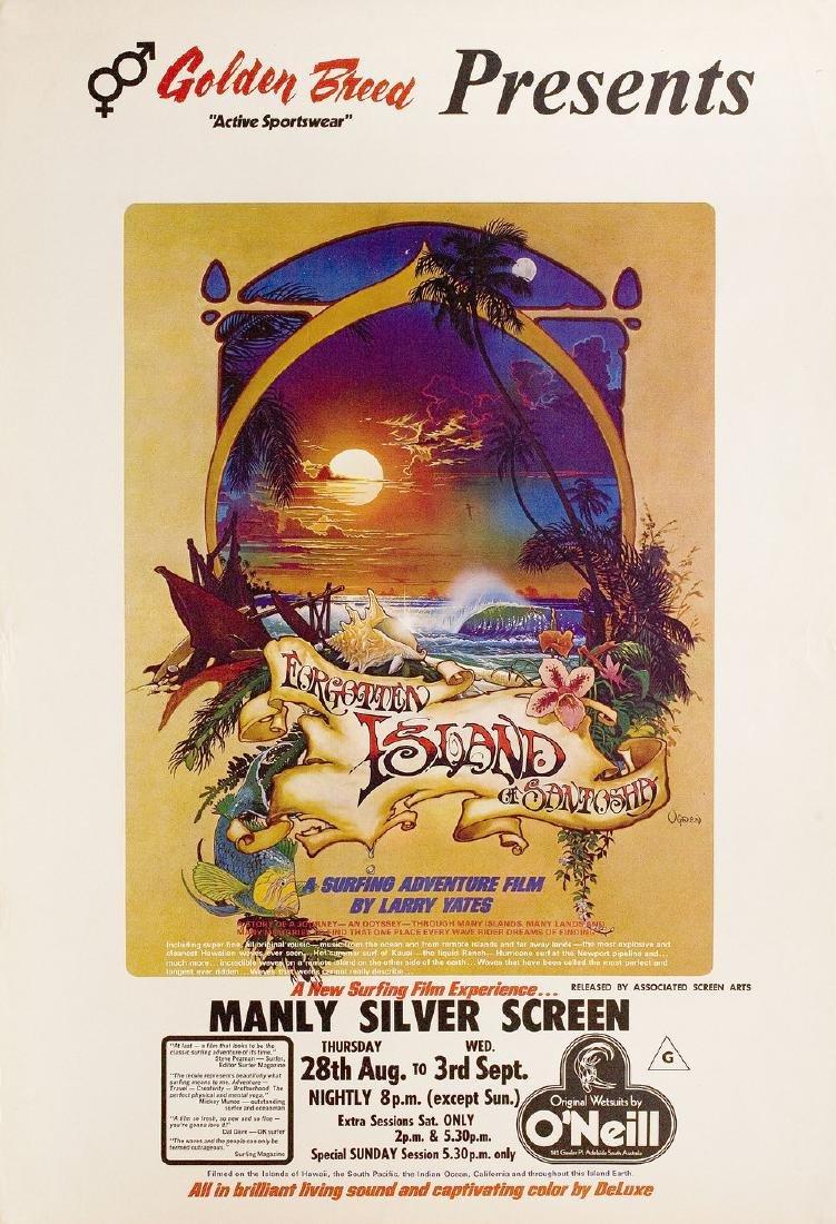 Forgotten Island of Santosha 1975 Australian One Sheet