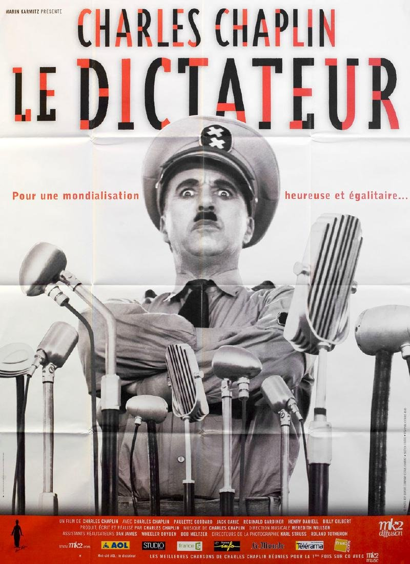 The Great Dictator R2002 French Grande Poster