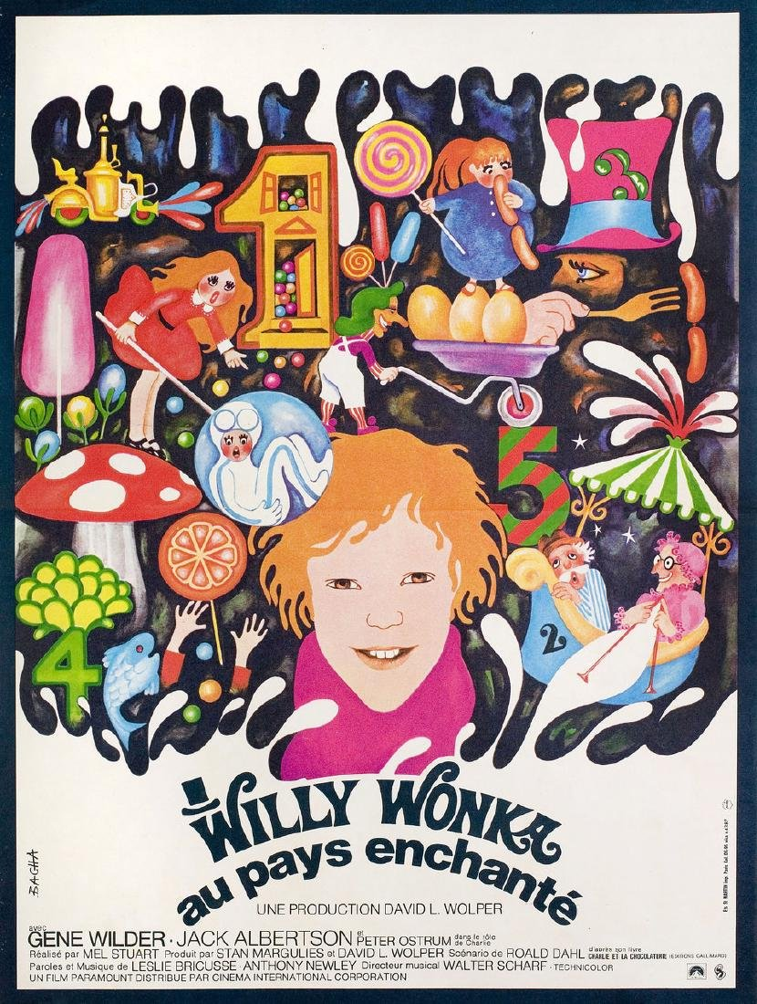 Willy Wonka & the Chocolate Factory 1971 French Petite