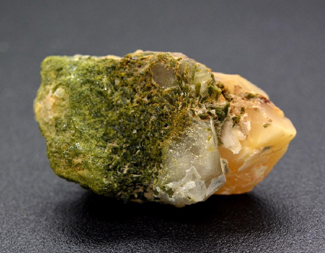 35 Gram A Rare Bone Quartz With Green Epidote Specimen - 3