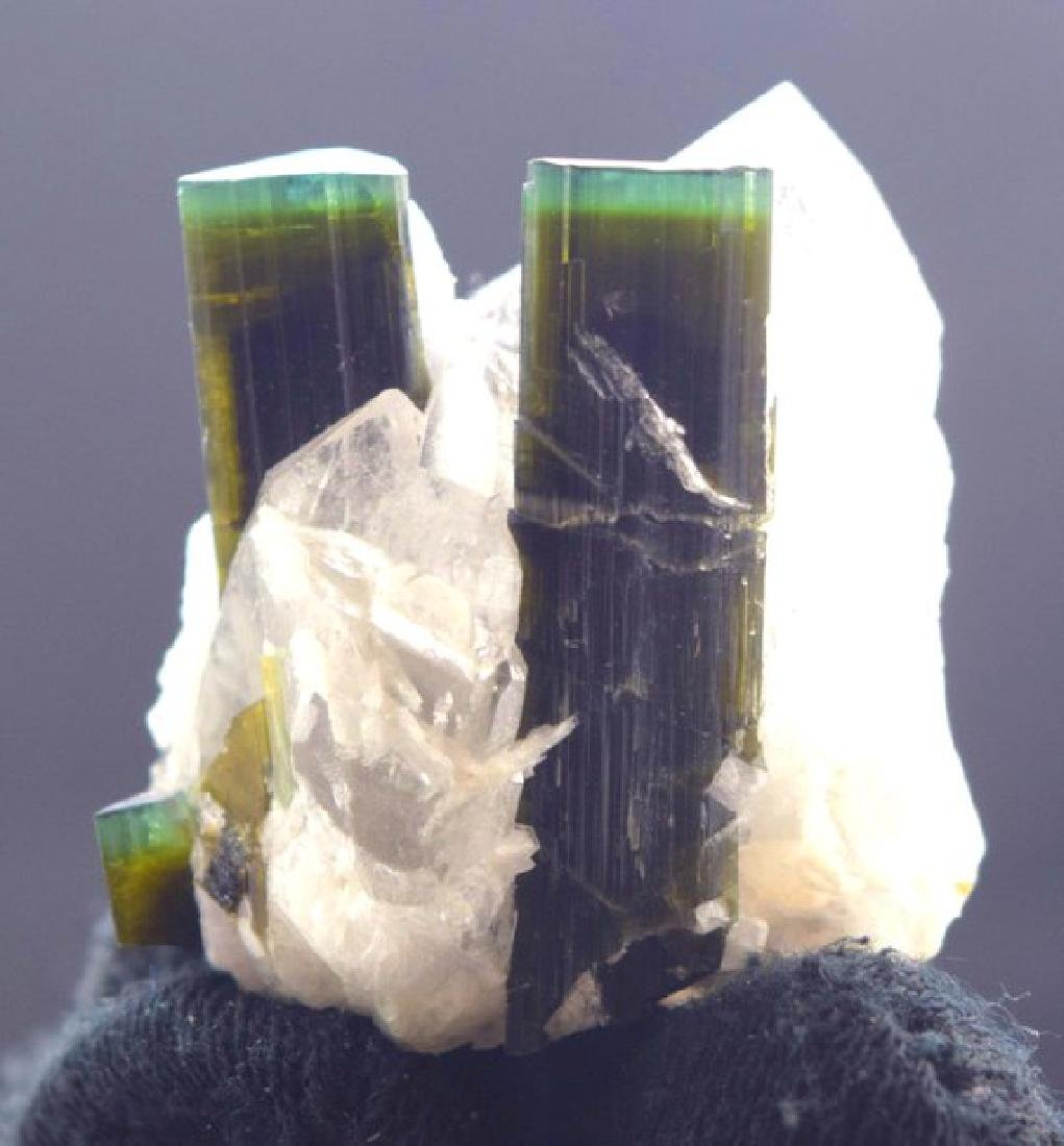 44 Gram Terminated Green Cap Tourmaline Crystals with - 6