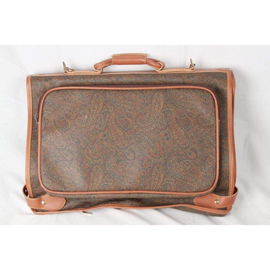 I SANTI Vintage Paisley Canvas GARMENT CARRIER BAG - 9