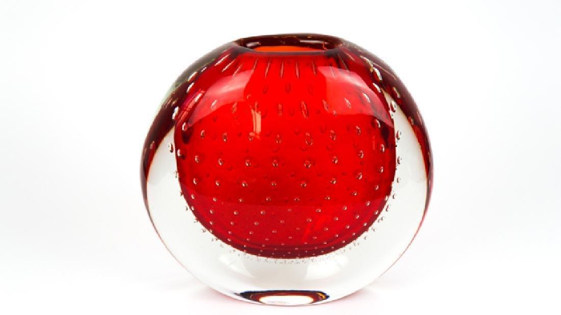 Murano Glass Vase Balloton Red - 2