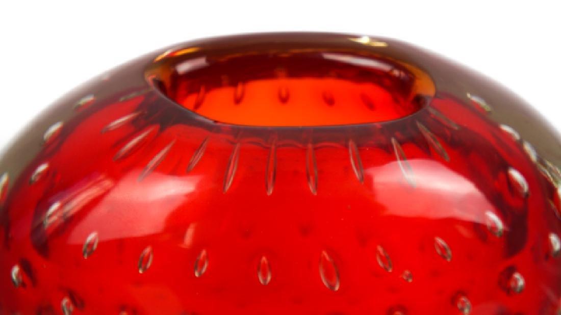Murano Glass Vase Balloton Red - 4
