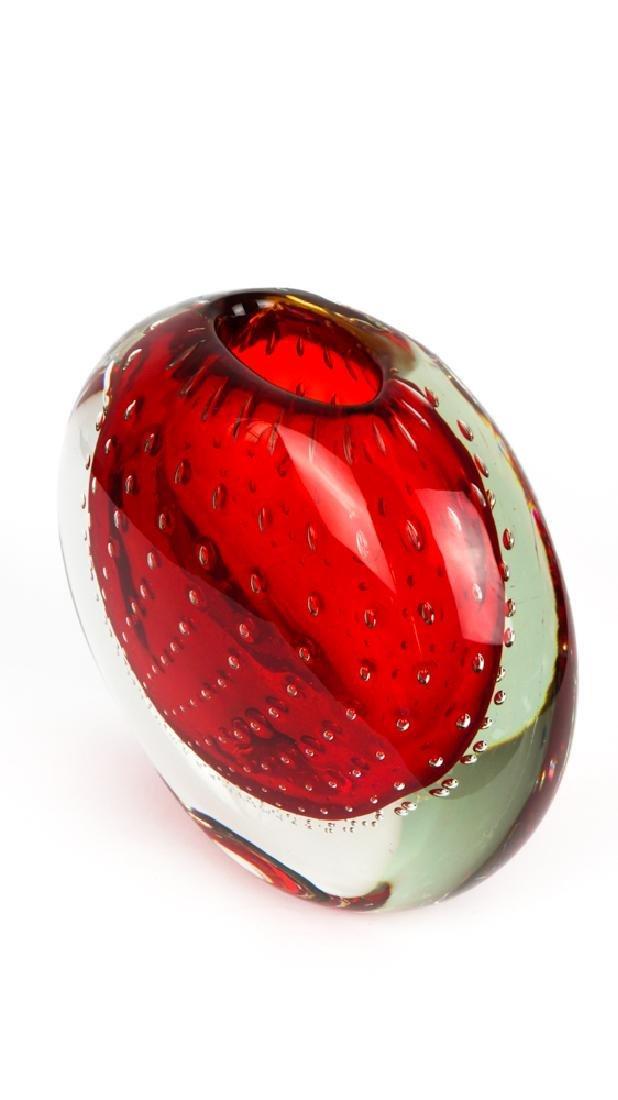 Murano Glass Vase Balloton Red - 9