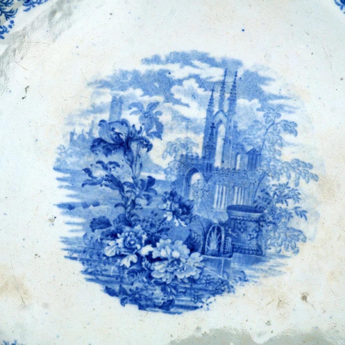 Large Staffordshire Transferware Platter of Churchyard - 3