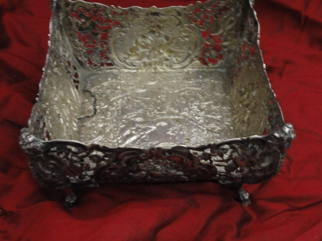 ANTIQUE SILVER FRUIT BASKET 800 SILVER GERMAN
